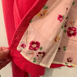 Gap Pink Embroidered Cardigan
